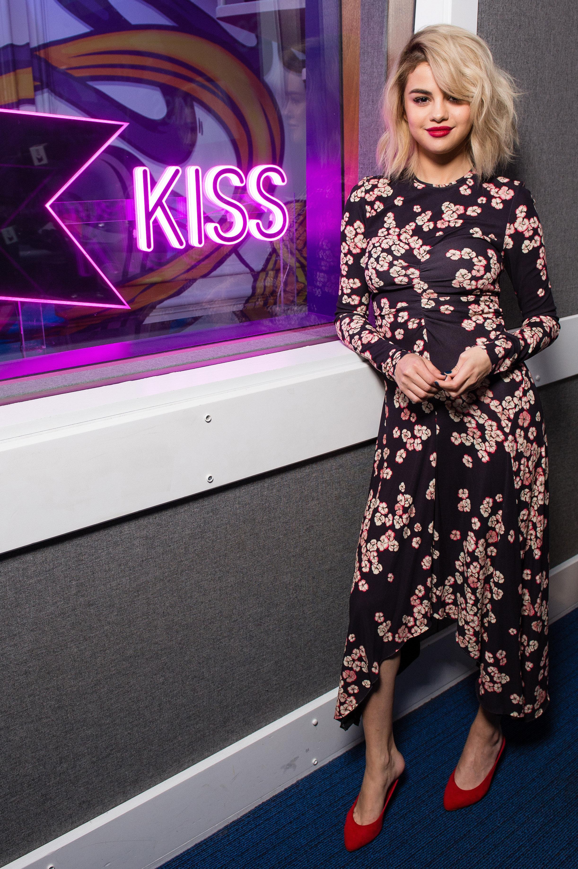 Gomez at KISS FM's studios on Dec. 4.