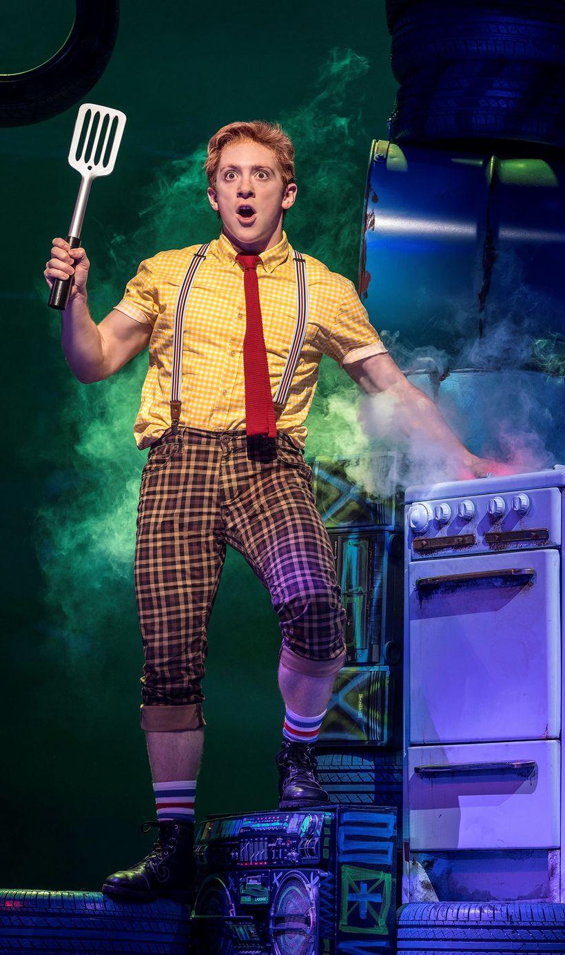 Ethan Slater in <em>SpongeBob SquarePants</em>