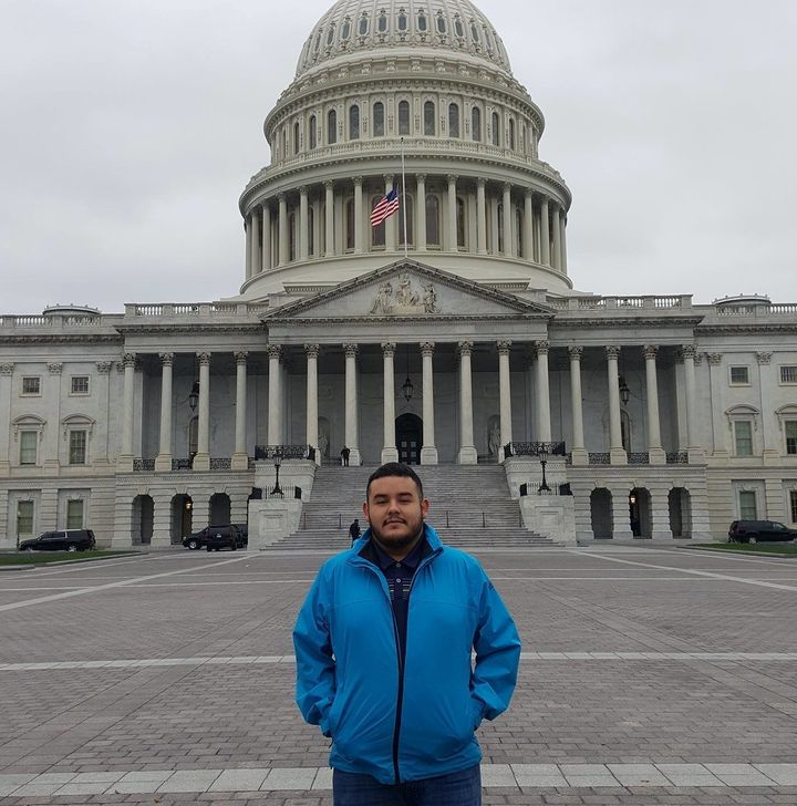 Juan Navarro, 24, came to the U.S. when he was three years old.