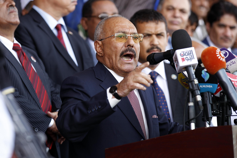 Yemen's Houthi leader hails ex-president's death