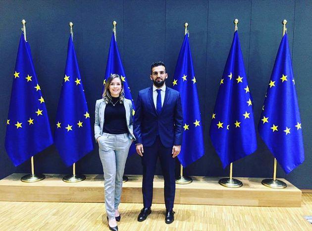 Amy Longland & Mete Coban at the European Council, Thursday 30th November