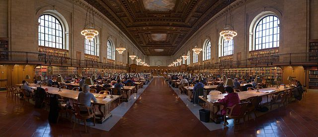 Rose Main Reading Room in the New York Public Library.
