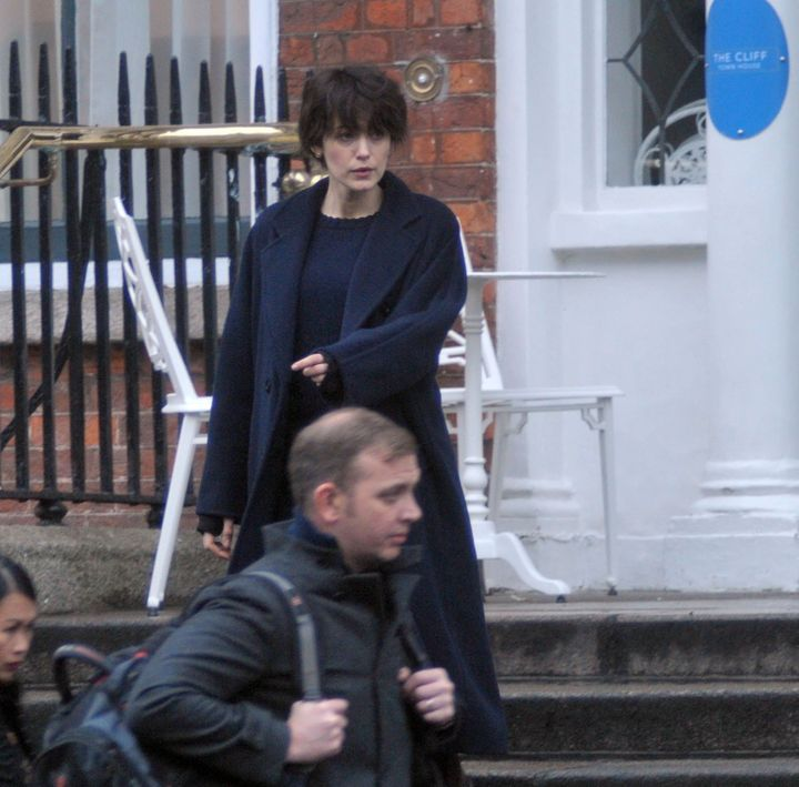 Lively filming in Dublin, Ireland, on Sunday, Dec. 3.