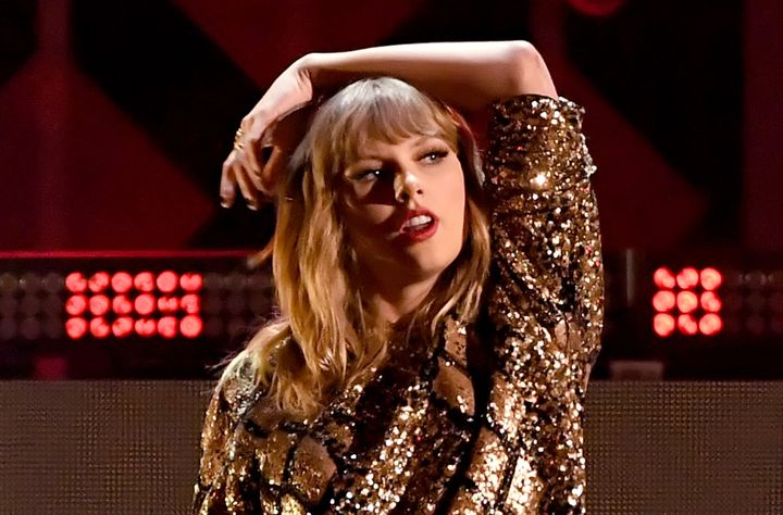 Taylor Swift performs at the Jingle Ball 2017 concert in Inglewood, California, on Dec. 1.