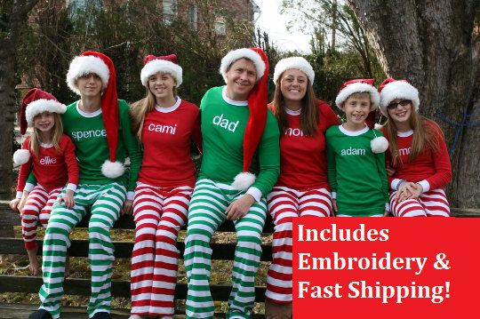 """Get the collection <a href=""""https://www.etsy.com/listing/485330787/christmas-pajamas-embroidered-name?ga_order=most_relevant&"""