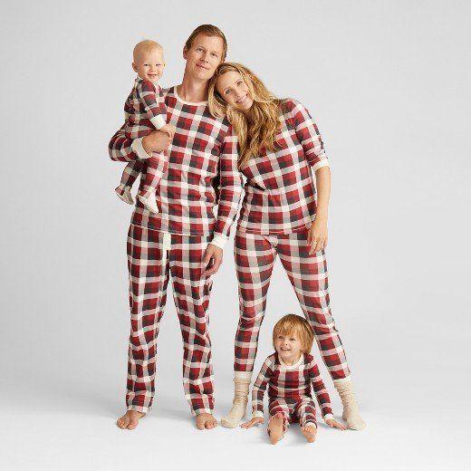 burts bee organic cotton plaid family pajamas collection