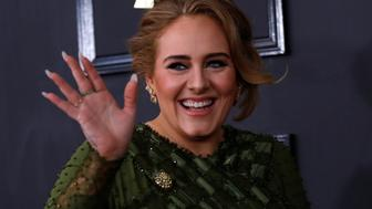 Singer Adele arrives at the 59th Annual Grammy Awards in Los Angeles, California, U.S. , February 12, 2017. REUTERS/Mario Anzuoni