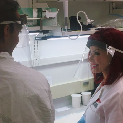 Naomi Judd visits the Lieber Institute for Brain Development in Baltimore, MD on July 27th.