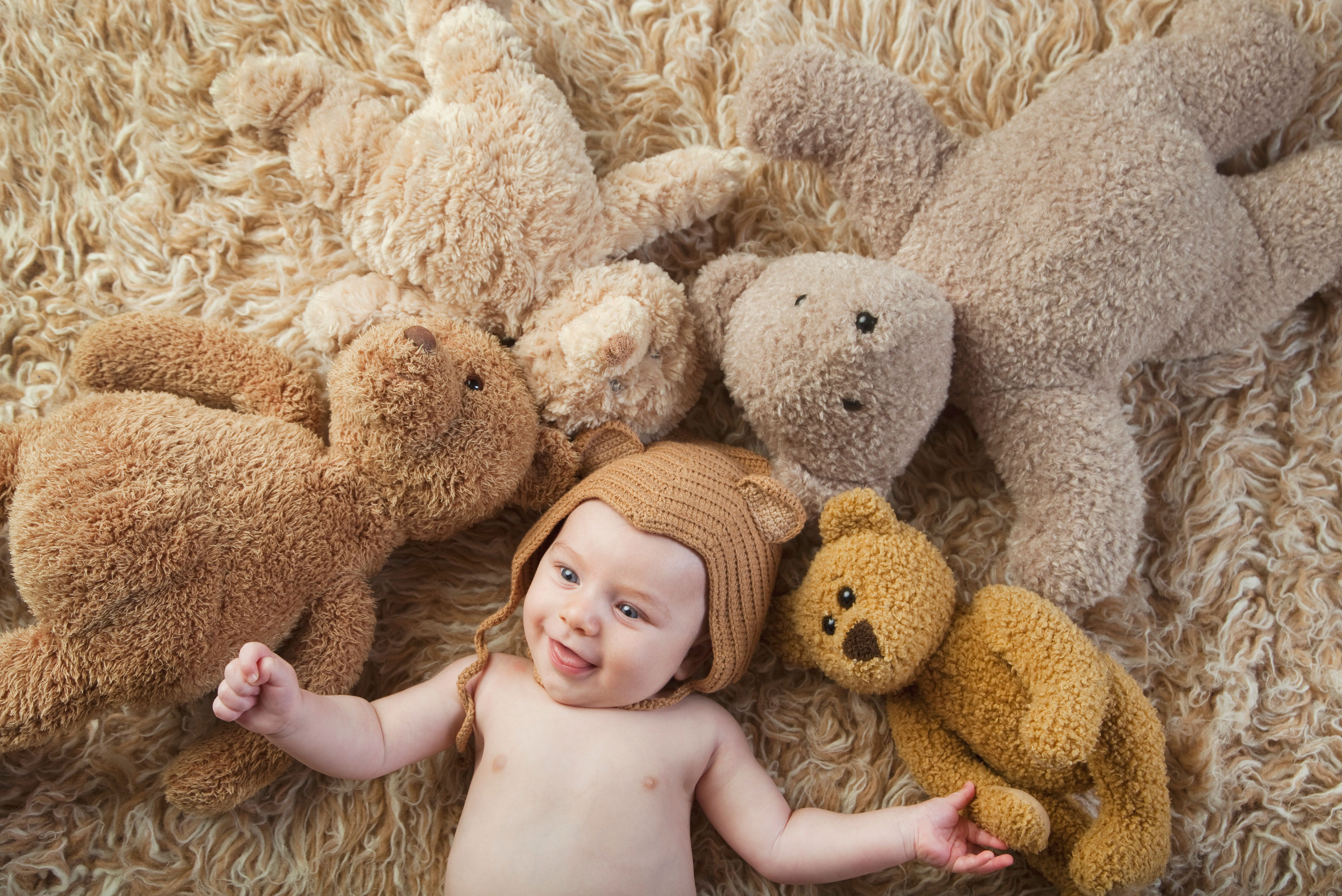 Somebabies are named Bear, not just given stuffed bears.