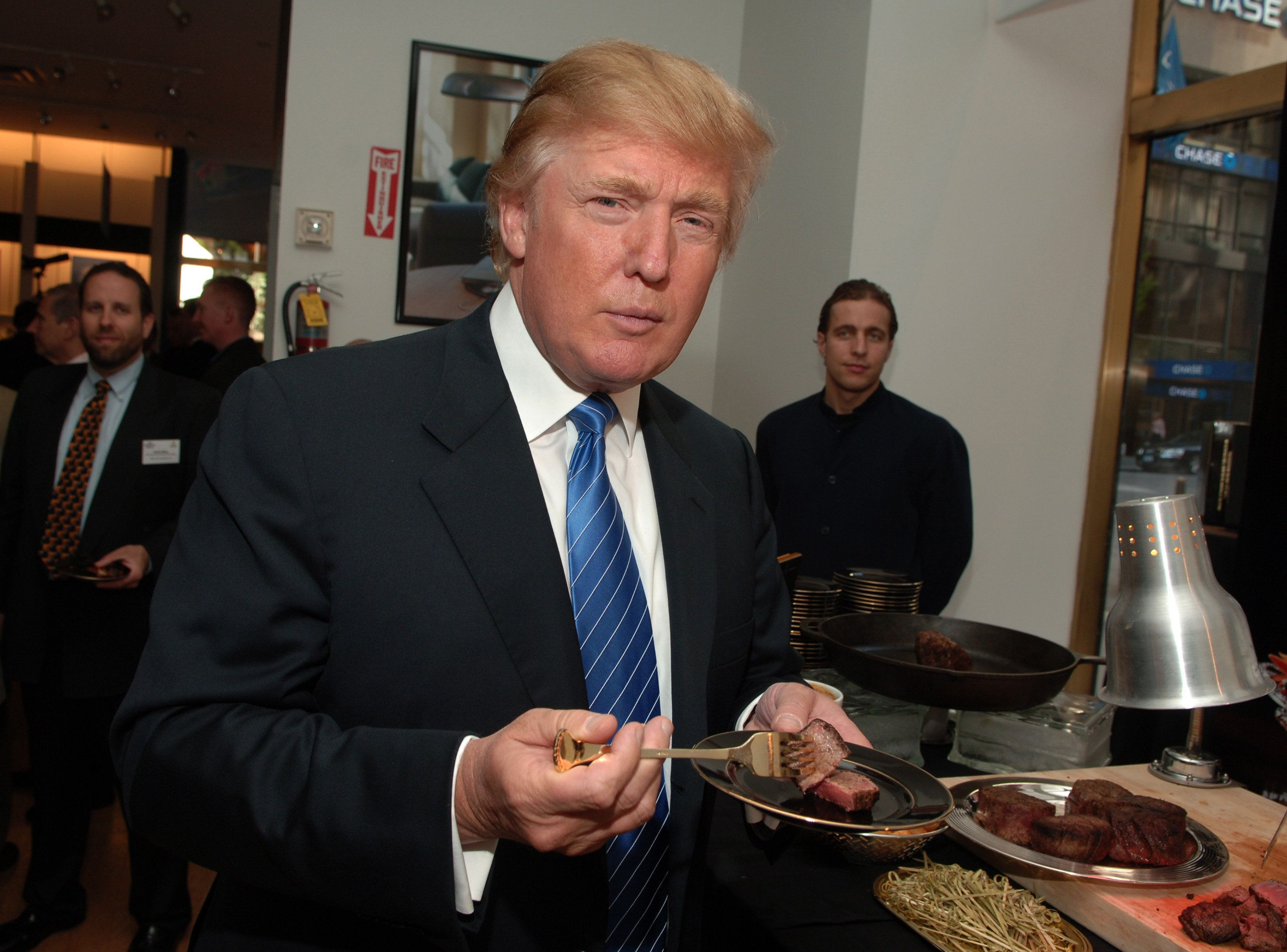 Trump is a big fan of McDonald's, steak, pizza and chips.