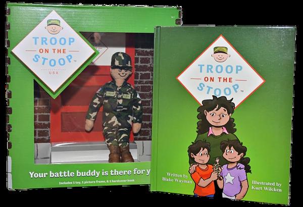 """Army veteran Blake Wayman created <a href=""""https://troop-on-the-stoop.myshopify.com/"""" target=""""_blank"""">Troop on the Stoop</a>"""