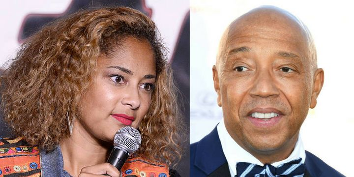 Amanda Seales said Russell Simmons asked her an inappropriate question during a business meeting.