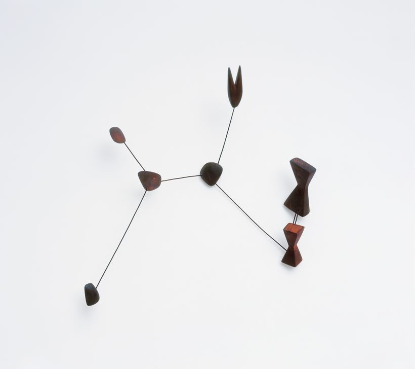 Alexander Calder, <em>Constellation</em>, 1943, wood and wire, 25 x 21 x 6 3/4 in (63.5 x 53.3 x 17.2 cm). Calder design