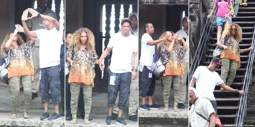 <strong>Jay</strong>-<strong>Z and Beyoncé visiting Buddhist temple Angkor Wat in Cambodia</strong>