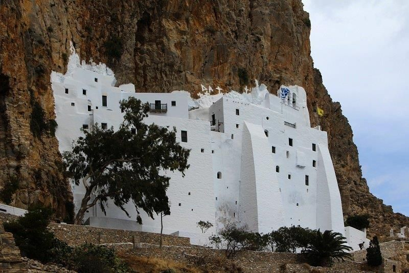 One the island of Amorgos priceless encounters high above the Aegean Sea at the Spectacular Byzantine Monastery of Panagia Ho