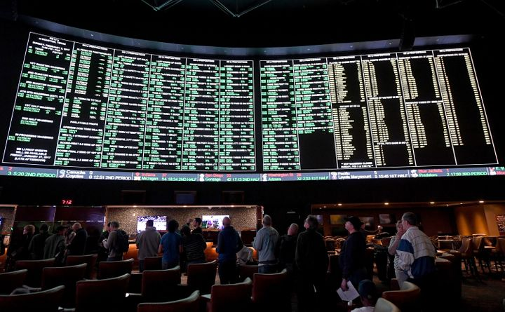 The case is based on a New Jersey law that repealed the state's ban on wagering at racetracks and casinos.