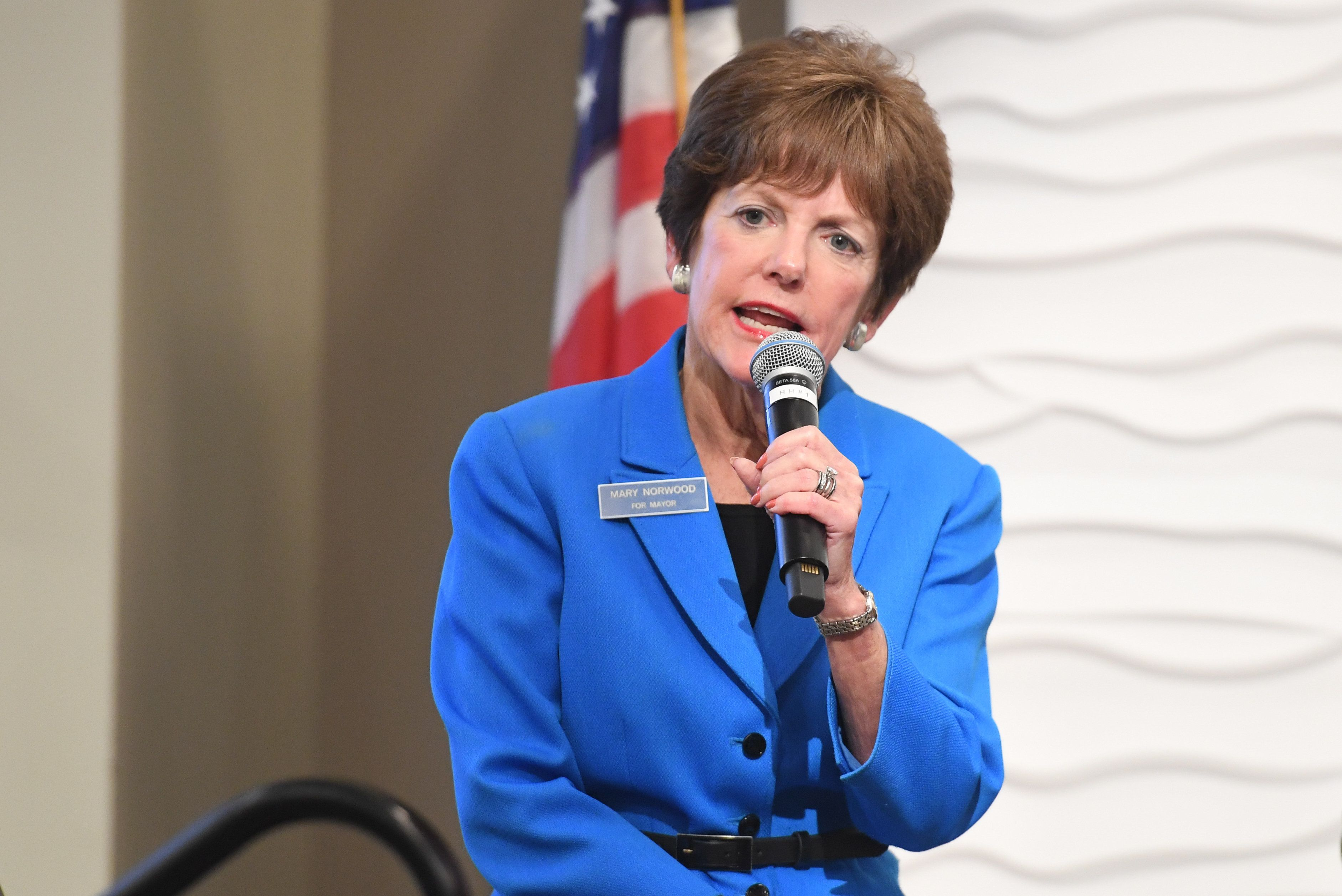 ATLANTA, GA - SEPTEMBER 05:  Mary Norwood speaks onstage at 2017 ONE Music Fest - Atlanta Mayoral Forum at Loudermilk Conference Center on September 5, 2017 in Atlanta, Georgia.  (Photo by Paras Griffin/Getty Images)