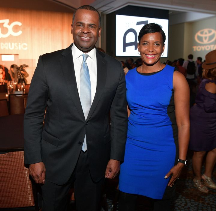 Mayor Kasim Reed attends a dinner with City Councilwoman Keisha Lance Bottoms in October. Reed's support for Bottoms has play