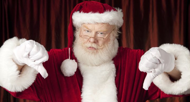 Santa says pastor David Grisham is definitely on the naughty list this year.