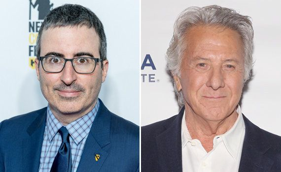 John Oliver Calls Out Dustin Hoffman To His Face Over Groping