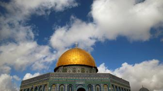 The Dome of the Rock is seen on the compound known to Muslims as the Noble Sanctuary and to Jews as Temple Mount in Jerusalem's Old City, January 13, 2017. REUTERS/Ammar Awad
