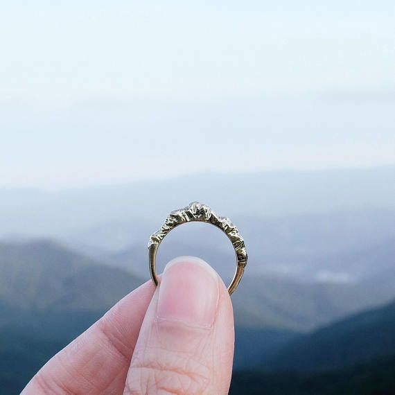 """For the traveler who's an adventurer at heart. Get it <a href=""""https://www.etsy.com/listing/103718780/silver-mountain-ring-mo"""