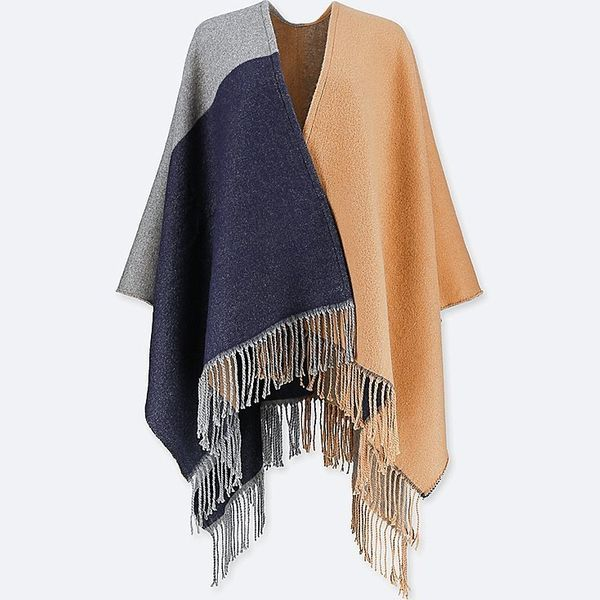 Versatility reigns supreme for travelers. This stole can also be used as a chunky scarf or even a wrap or blanket. Get it <a