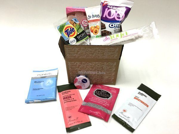 This subscription box features travel sizes, single serving sizes, and other miniature products, and is idealas a gift