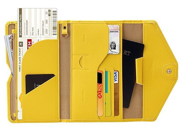 If you know a Type A traveler, they'll appreciate how meticulously organized this travel wallet is, with room for a passport,