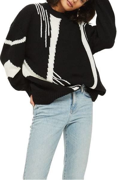 """<a href=""""https://shop.nordstrom.com/s/topshop-abstract-print-oversize-sweater/4833505?origin=keywordsearch-personalizedsort&a"""