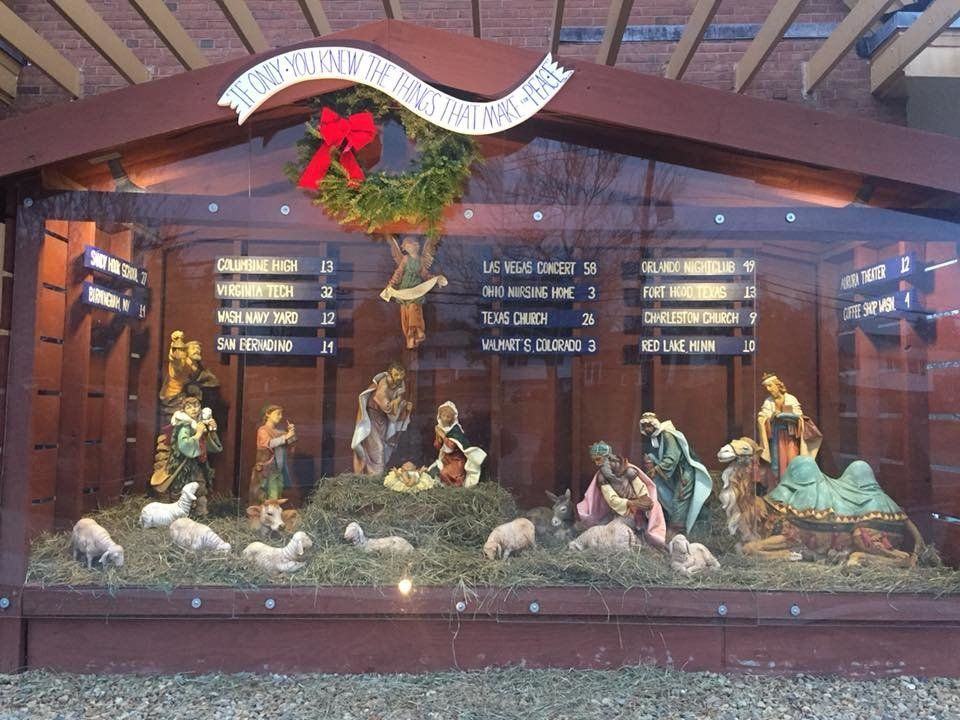 Church Includes List Of U.S. Mass Shootings In Its Nativity