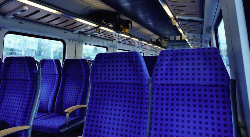 Train from Split to Zagreb