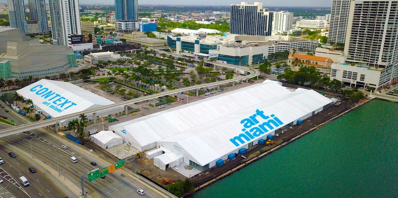New home of Art Miami and CONTEXT Art Miami. One Herald Plaza at NE 14th Street, on Biscayne Bay in Downtown Miami, between t