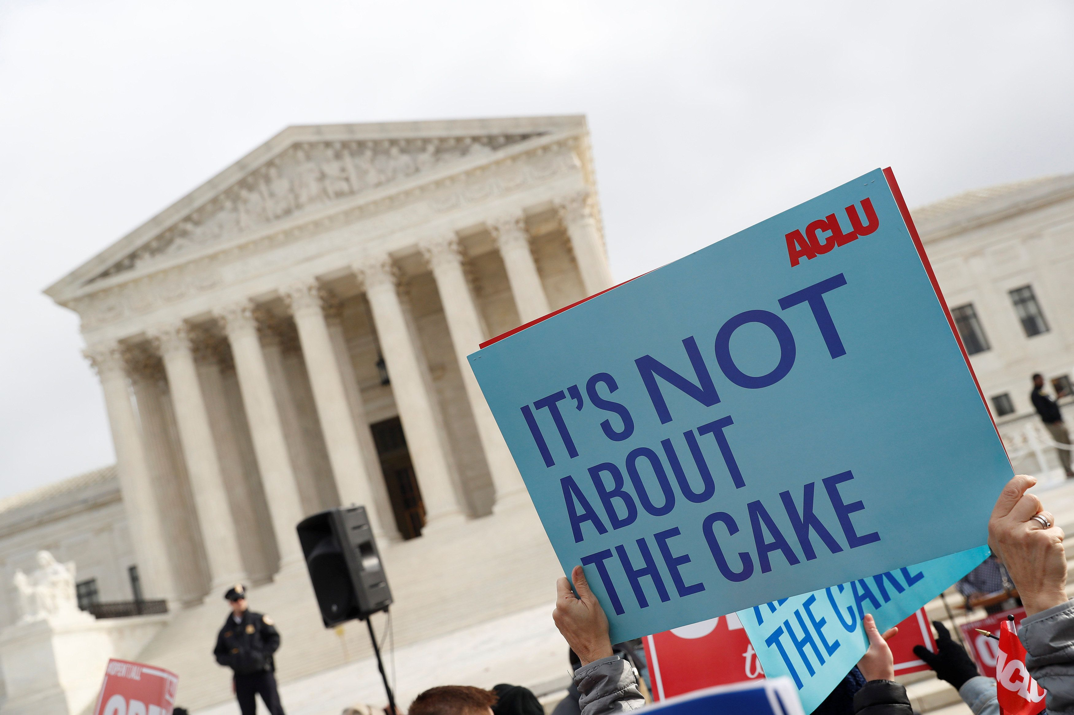 Supreme Court hearing same-sex marriage cake case