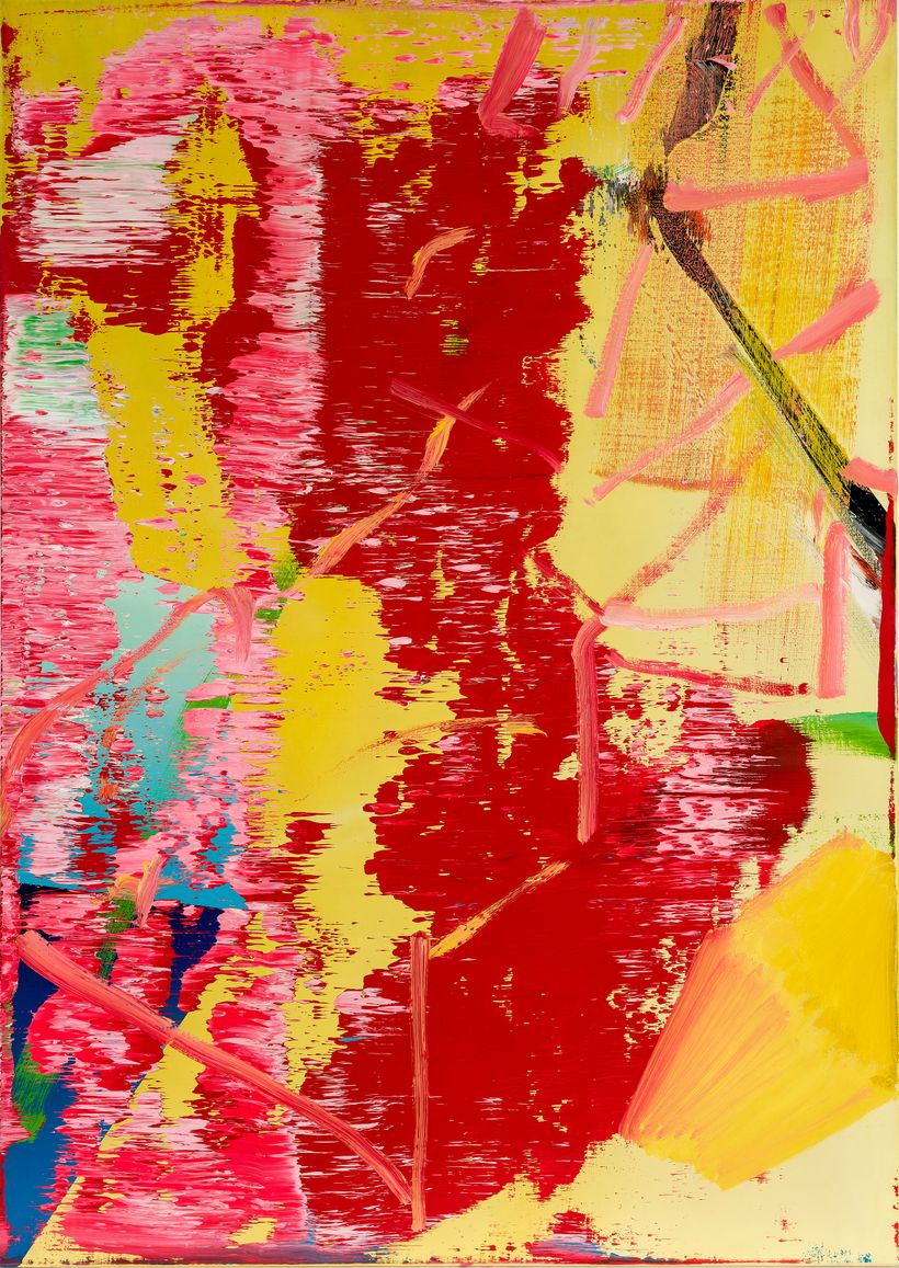 Gerhard Richter, <em>Abstraktes Bild (522-1)</em>, 1983, Oil on canvas, 39.4 × 27.6 in. (100 × 70 cm).