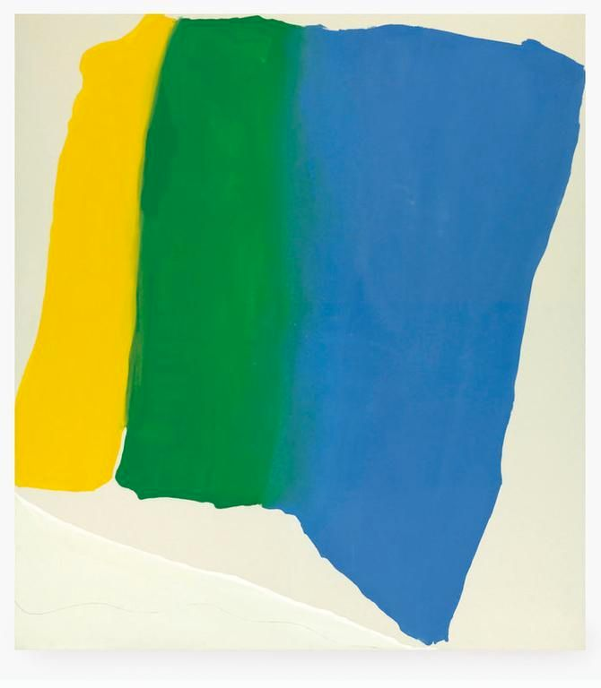 Helen Frankenthaler, <em>Summer Insignia</em>, 1969, Acrylic on canvas, 95 x 85.25 in.