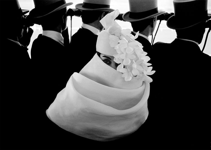 Frank Horvat, <em>Givenchy Hat A, For Jardin Des Modes, Paris</em>, 1958, Archival Pigment Photograph, printed later, 33 x 46