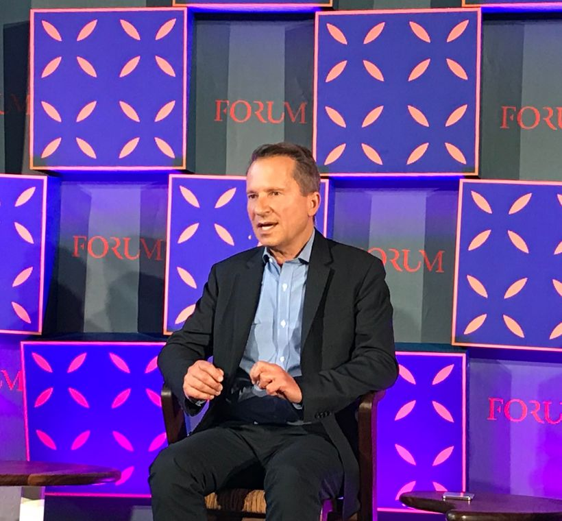 Richard Socarides speaks about the Gig economy and key trends defining the future of work at WebSummit 2017 Forum in Lisbon,
