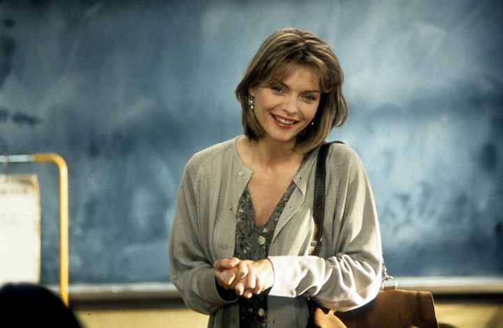 "Michelle Pfeiffer in ""Dangerous Minds."""