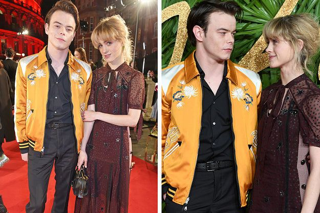 'Stranger Things' Stars Charlie Heaton And Natalia Dyer Hit Red Carpet Together
