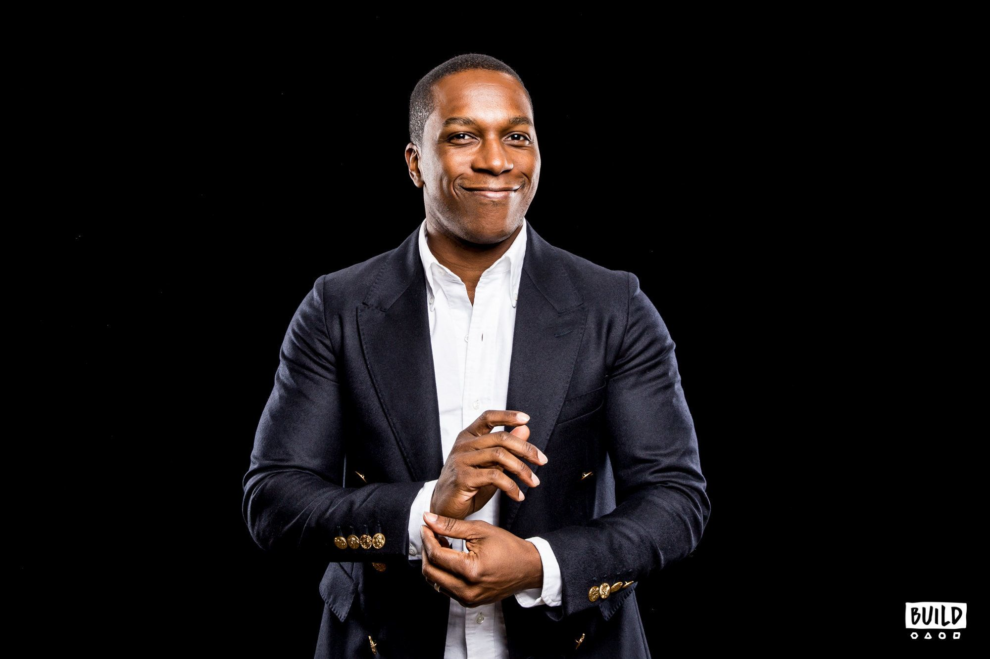 Leslie Odom Jr. visits Build Series NYC on November 30, 2017. Photo by Joe Russo.