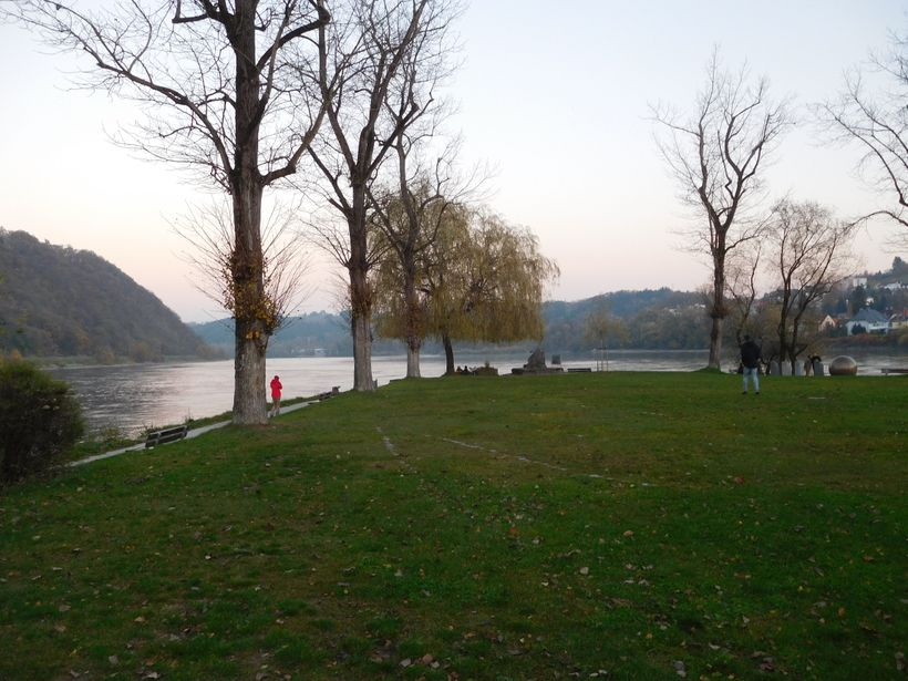 <strong>Where the Danube (left) and Inn meet</strong>