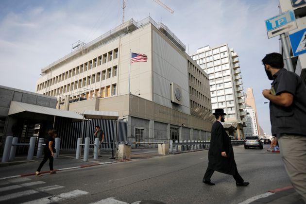 The current U.S. Embassy in Tel Aviv.
