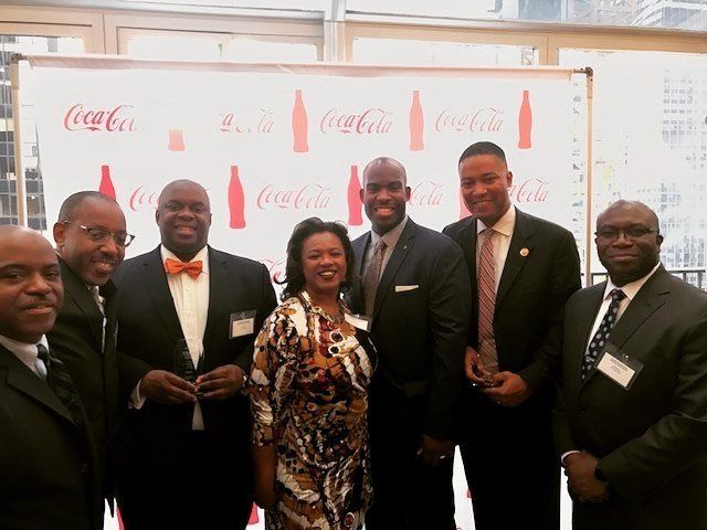 """The League of 1789 hosts with honorees. L to R: Maurice Goodman; Greg Davis;<a rel=""""nofollow"""" href=""""http://www1.nyc.gov/offic"""