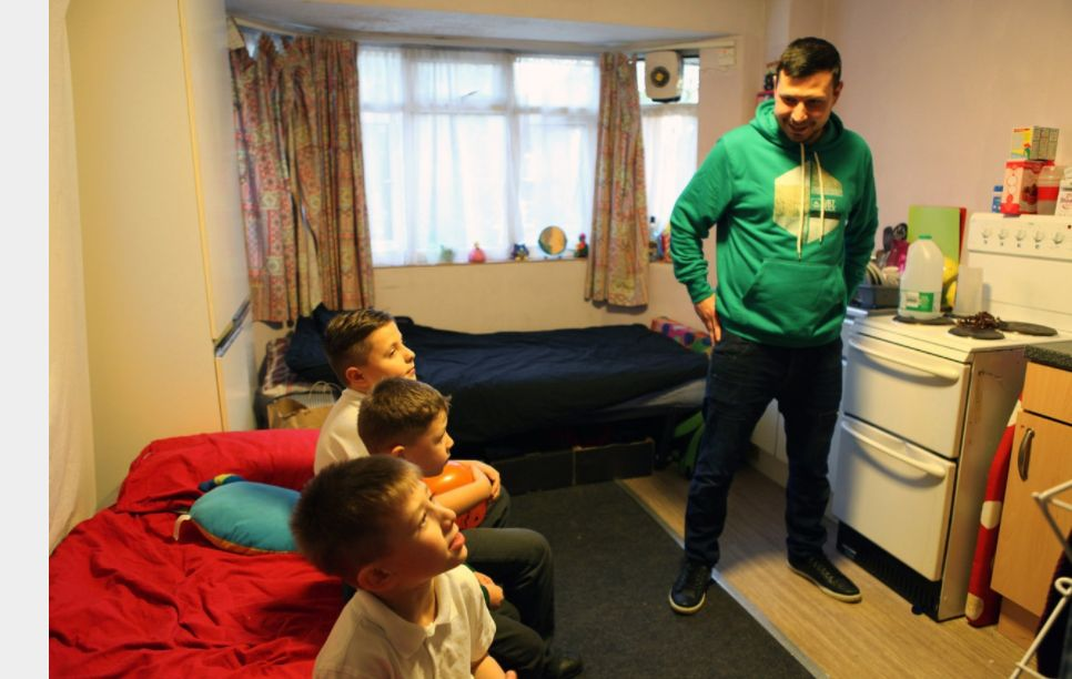 <strong>Families placed into emergency B&Bs and hostels often live in a single room, with parents sharing the bed with children, the Shelter report found</strong>