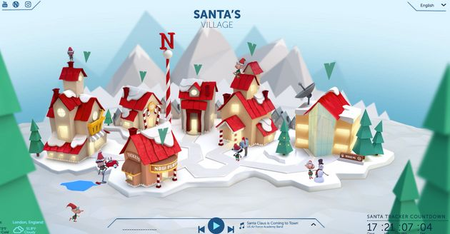 NORAD Santa Tracker Locates Father Christmas As He Delivers Presents To