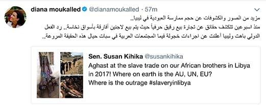 <em>Screen shot of Diana Moukalled tweet</em>