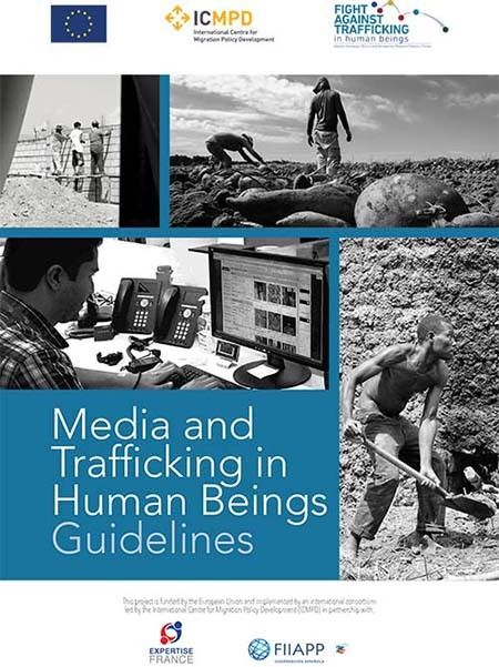 <em>Screen shot of Media and Trafficking in Human Beings Guidelines</em>