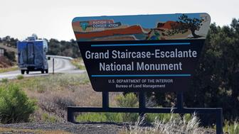 The entrance to Grand Staircase-Escalante National Monument is seen outside of Escalante, Utah, U.S. May 17, 2017. Picture taken May 17, 2017.   REUTERS/Bob Strong