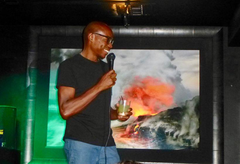 The very funny and dour Kyle Grooms (<em>Dave Chappelle Show</em>) MCs Wednesday Night Live comedy shows at Drinkhouse Fire a